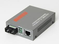 千兆电单模双纤1光1电光纤收发器